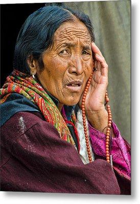 Waiting In Dharamsala For The Dalai Lama Metal Print by Don Schwartz