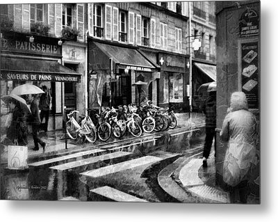 Waiting In The Bar For The Rain To Pass #1 Metal Print by Aleksander Rotner