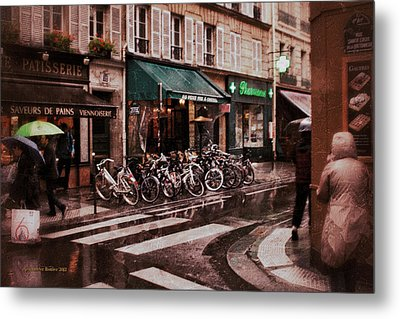 Waiting In The Bar For The Rain To Pass #2 Metal Print by Aleksander Rotner