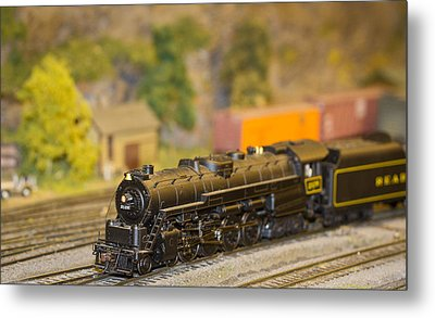 Metal Print featuring the photograph Waiting Model Train  by Patrice Zinck