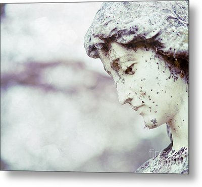 Waiting On Eternity Cemetery Photo Metal Print by Sonja Quintero