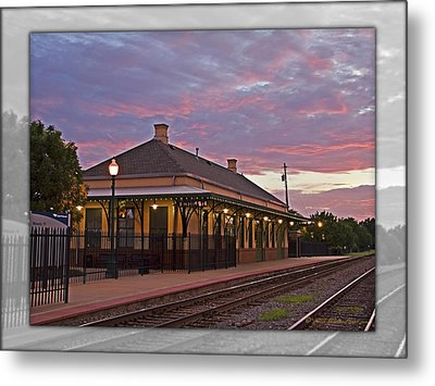 Waiting On The Train Metal Print by Walter Herrit