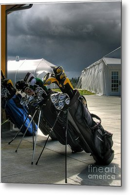 Waiting Out The Rain - Chambers Bay Golf Course Metal Print by Chris Anderson
