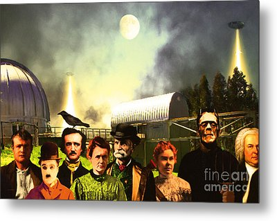 Waiting To Be Abducted By Visitors From Mars Dsc912 Metal Print by Wingsdomain Art and Photography