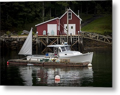 Waiting To Fish Metal Print by Dave Cleaveland