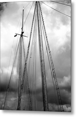 Metal Print featuring the photograph Waiting To Sail by Ellen Tully