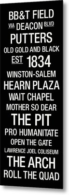 Wake Forest College Town Wall Art Metal Print by Replay Photos