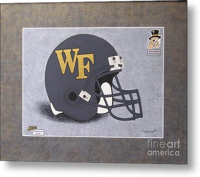 Wake Forest T-shirt Metal Print by Herb Strobino