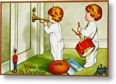 Wake Up Its Christmas Metal Print