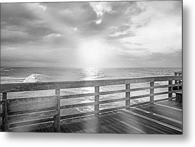 Waking Coast Metal Print by Betsy Knapp