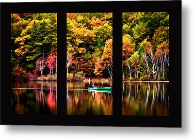 Walden In Three Black  Metal Print by Garland Johnson
