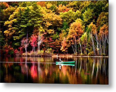 Walden Pond Fall Metal Print by Garland Johnson