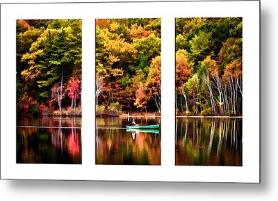Walden Pond In Three Metal Print