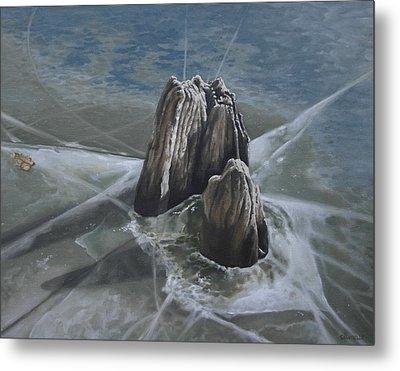 Walden Pond Winter Metal Print by Jason Sawtelle