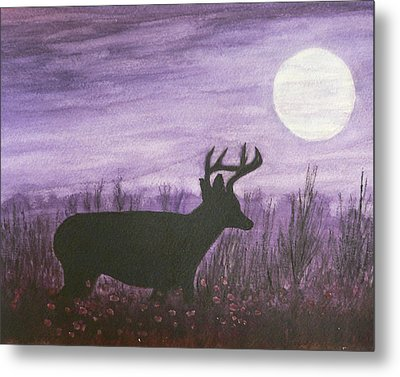 Metal Print featuring the painting Walk In The Moonlight by Dan Wagner
