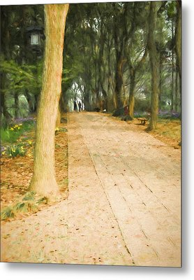 Metal Print featuring the painting Walk In The Park by Ike Krieger