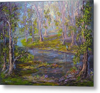 Walk In The Woods Metal Print by Michael Mrozik