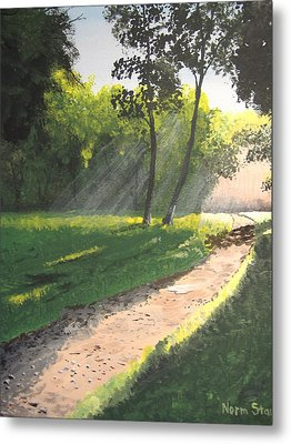 Walk Into The Light Metal Print by Norm Starks