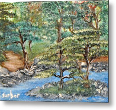 Walk In Faith Metal Print by Suzanne Surber