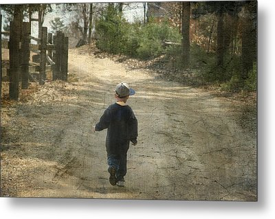 Walk On The Road  Metal Print