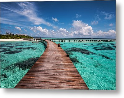 Walk Over The Water Metal Print