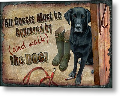 Walk The Dog Metal Print by JQ Licensing