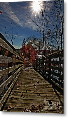 Walk The Line Metal Print by Scott Allison