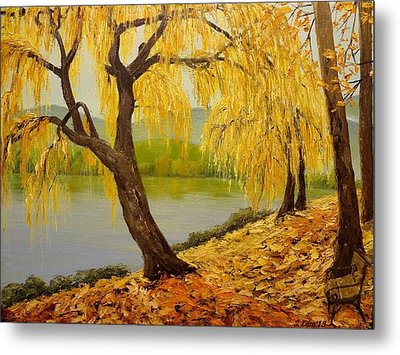 Walk The River Metal Print by Svetla Dimitrova