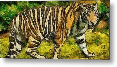 Walk The Tiger Metal Print by Georgi Dimitrov