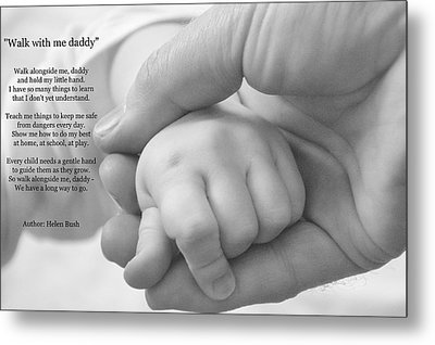 Walk With Me Daddy Metal Print