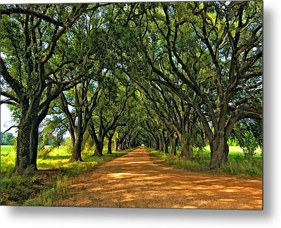Walk With Me Paint Version Metal Print by Steve Harrington