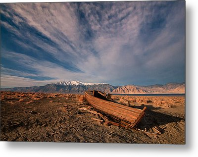 Metal Print featuring the photograph Walker Lake Fishing Boat by Janis Knight