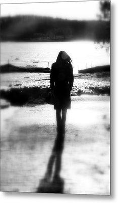 Walking Alone Metal Print