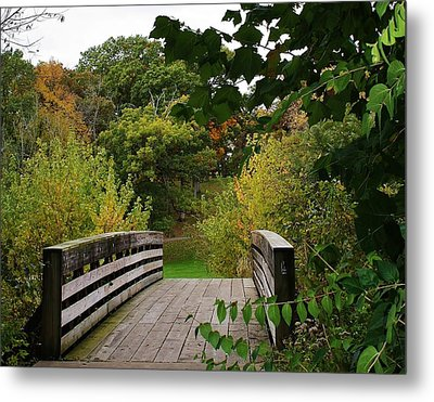 Walking Bridge Metal Print by Bruce Bley