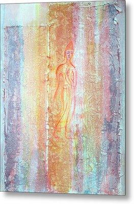 Walking Buddha Metal Print by Asha Carolyn Young