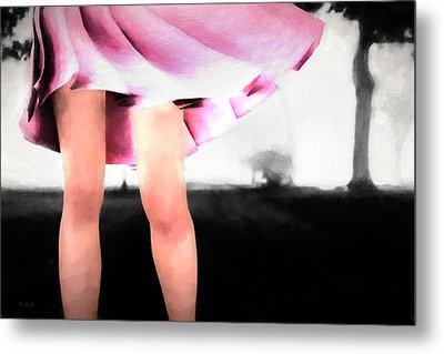 Walking In The Park Metal Print by Bob Orsillo