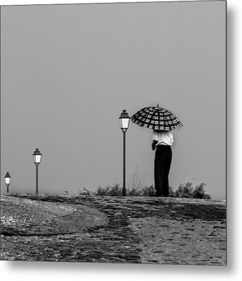Metal Print featuring the photograph Walking In The Time by Edgar Laureano