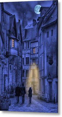 Walking Into The Past Metal Print