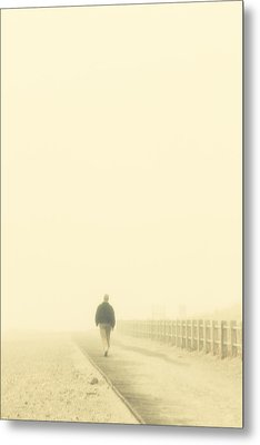 Walking Into The Unknown Metal Print by Karol Livote
