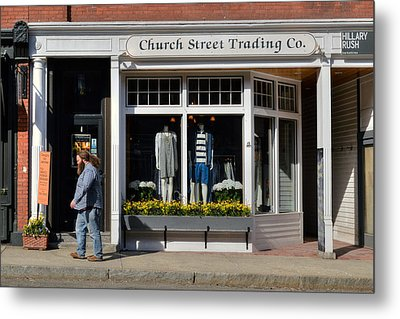 Walking Man - Great Barrington Metal Print by Geoffrey Coelho