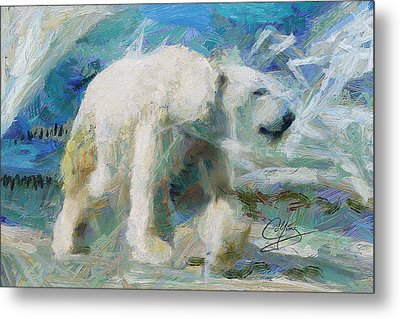Metal Print featuring the painting Cold As Ice by Greg Collins