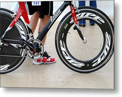 Walking Swimming Biking Running  Metal Print by David Bearden