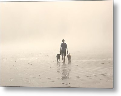 Walking The Dog Florentia Metal Print by Brian Sereda