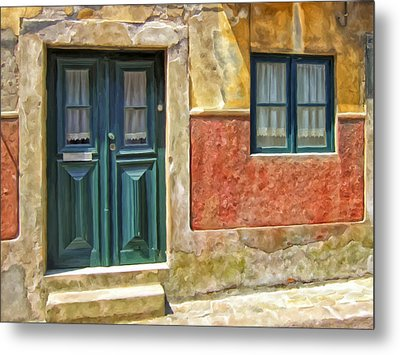 Walking Through Vila De Conde Metal Print by Michael Pickett