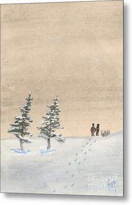 Walking Together Metal Print by Robert Meszaros