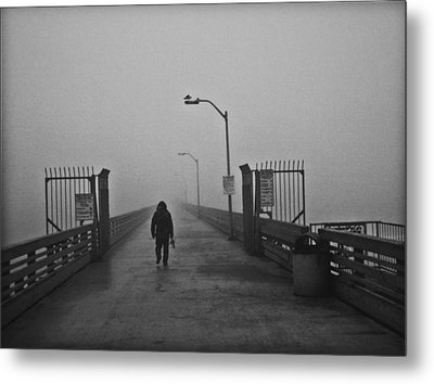 Walking Towards The Abyss Metal Print by Larry Butterworth