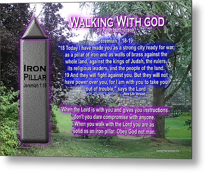Walking With God Metal Print