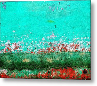 Metal Print featuring the digital art Wall Abstract 111 by Maria Huntley