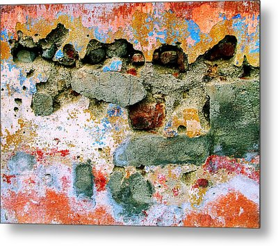 Metal Print featuring the digital art Wall Abstract 15 by Maria Huntley