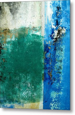 Metal Print featuring the digital art Wall Abstract 159 by Maria Huntley